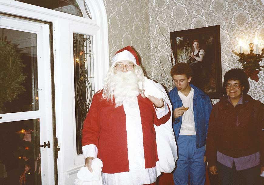 Santa making his entrance