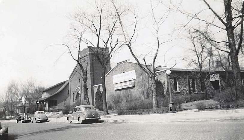 Side of First Baptist La Salle