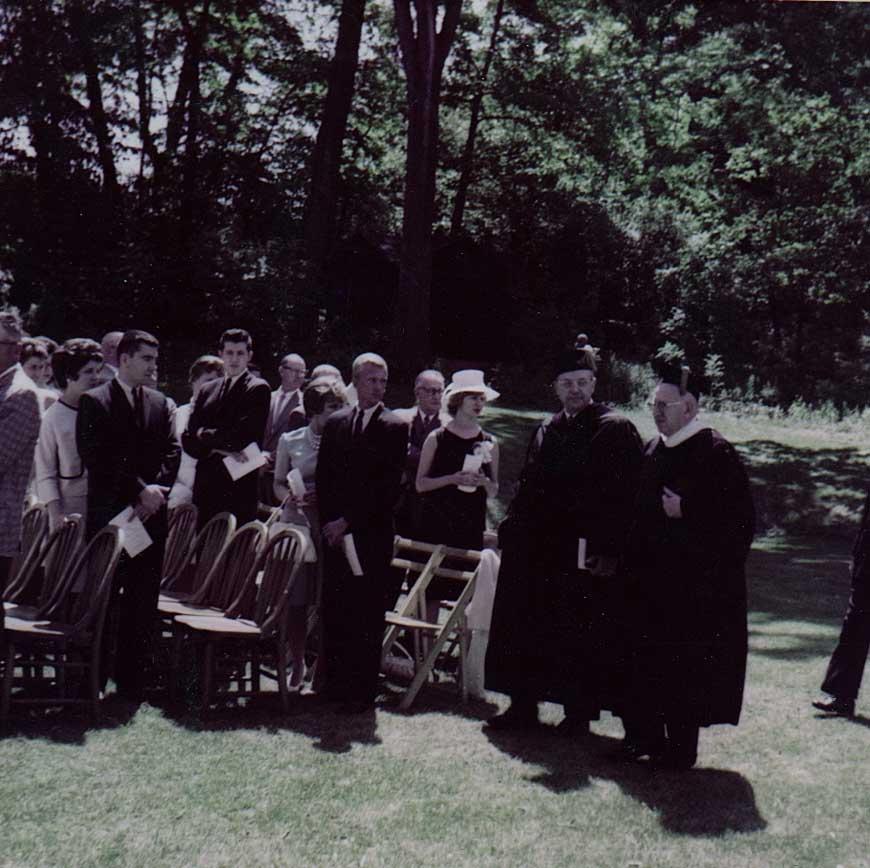 Graduation on the lawn