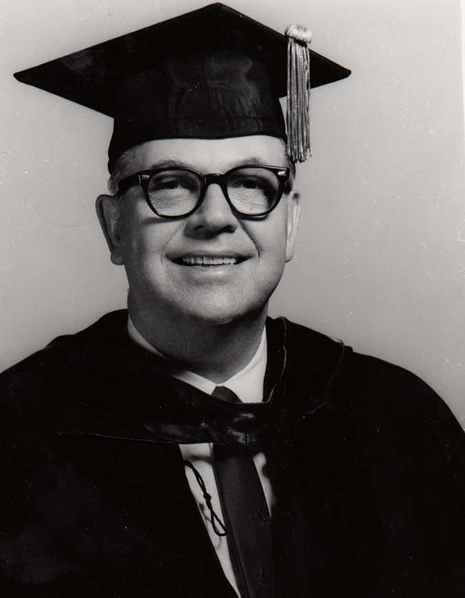 Dr. Cook in his regalia