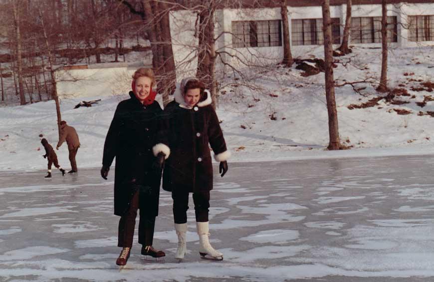On-campus ice skating