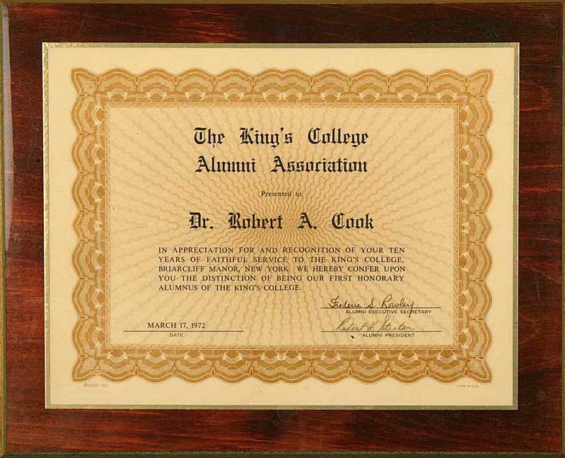 First Honorary Alumni Award