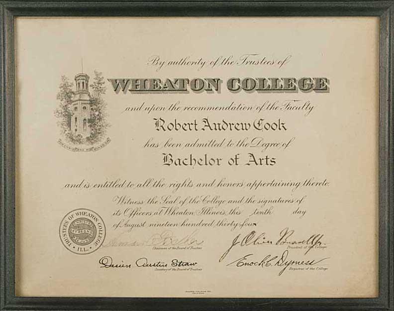 Wheaton College Bachelor of Arts