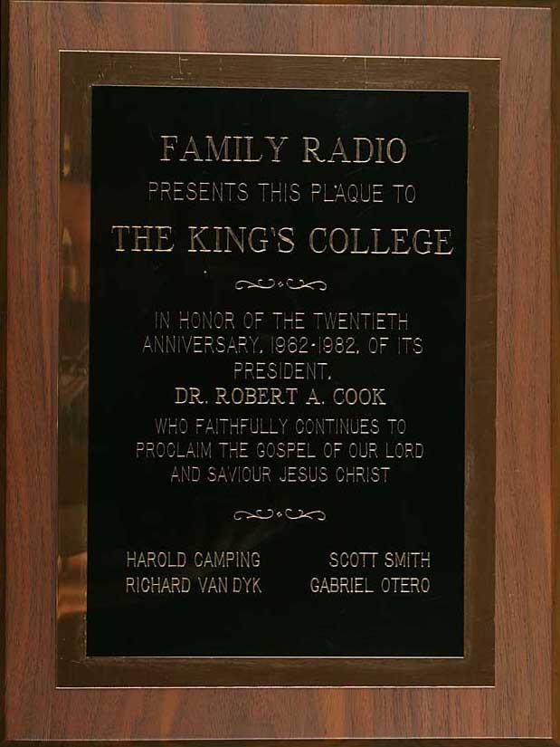 Family Radio Commemoration