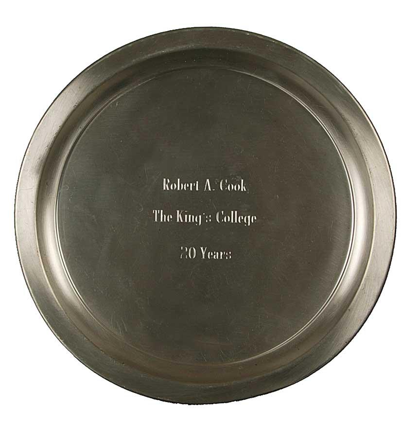 Twentieth Anniversary plate