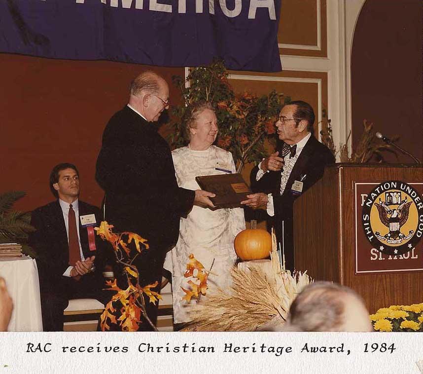accepting the Faith and Freedom Award