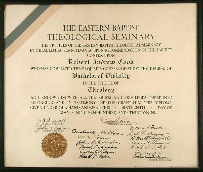 Bachelor of Divinity