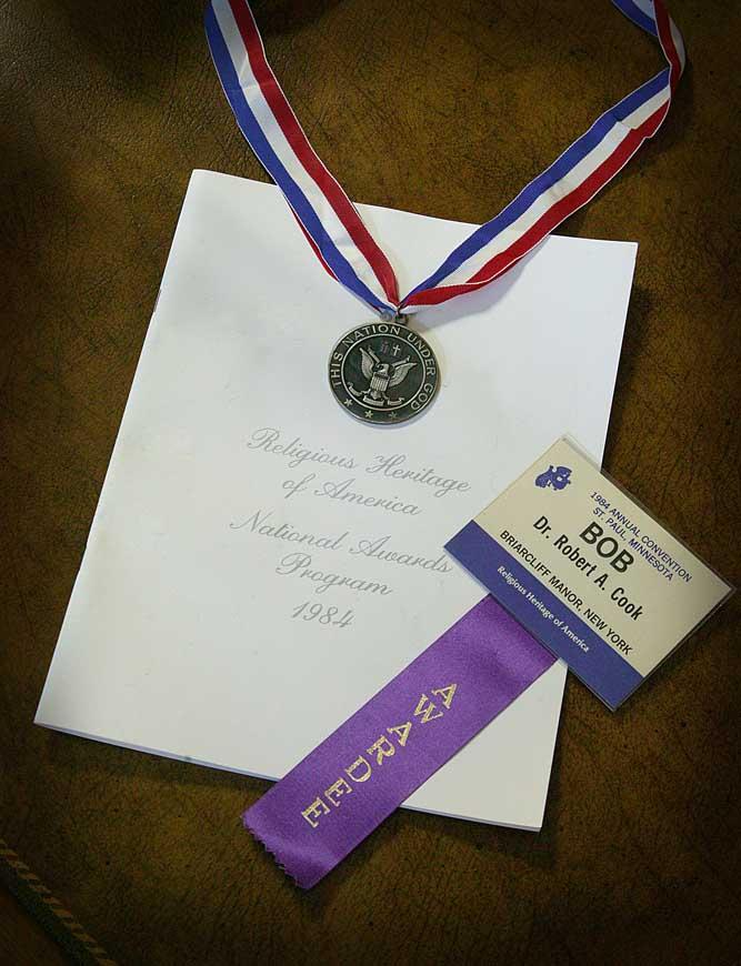 Medal from Faith and Freedom Award
