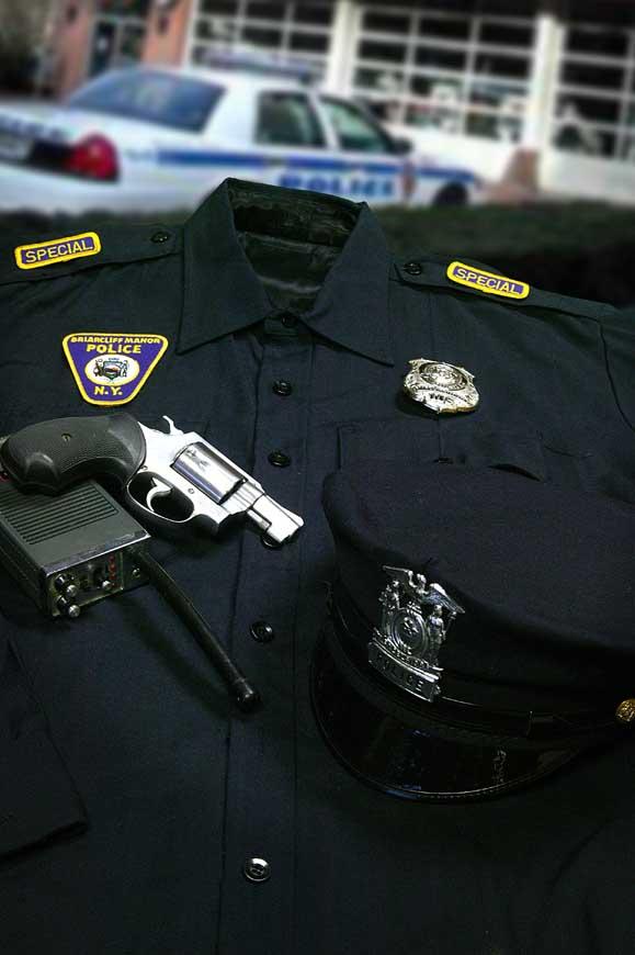 Dr. Cook's police uniform
