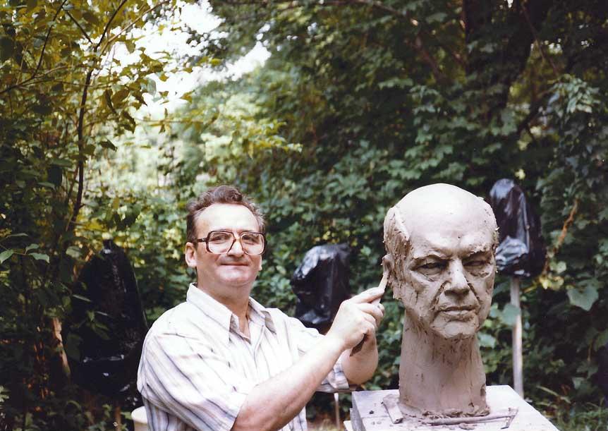 Dr. Cook bust sculpture