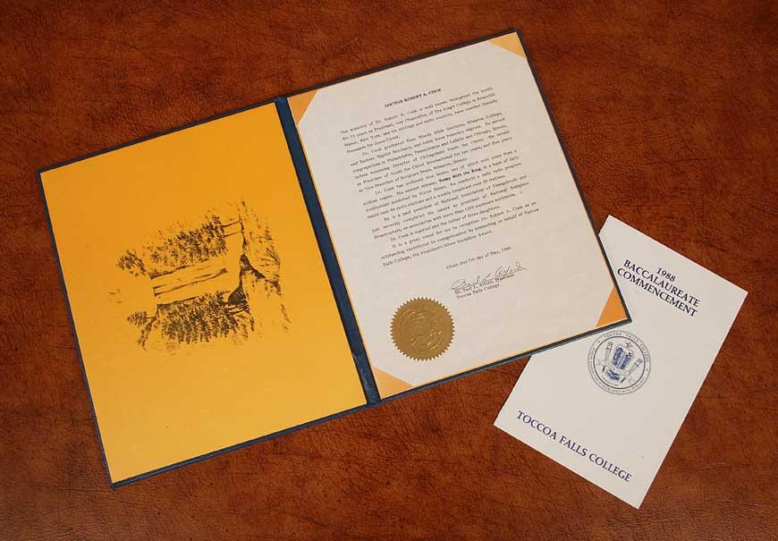 President's Silver Medallion Description