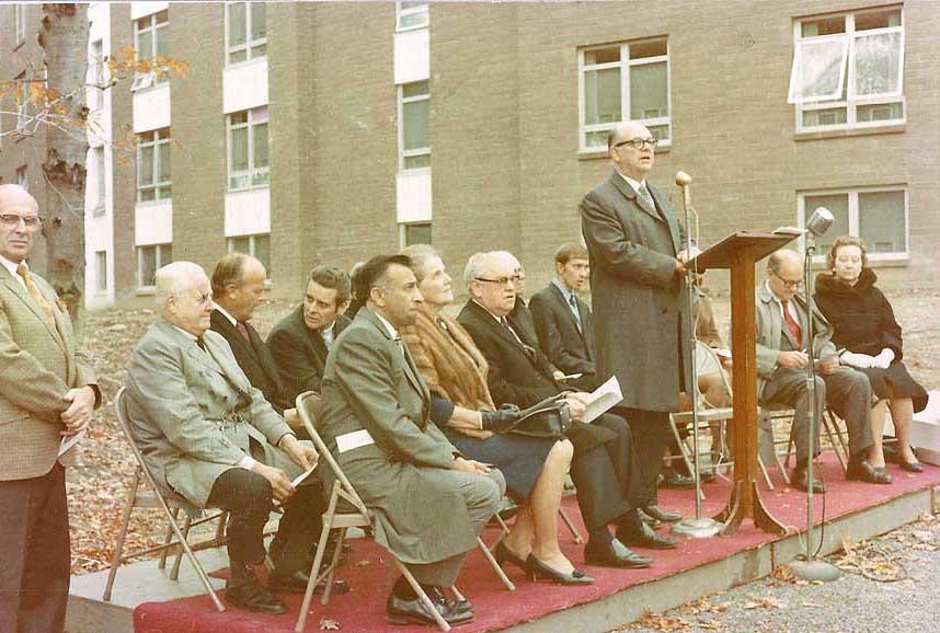 Dr. Cook speaking at the dedication of Miller Circle