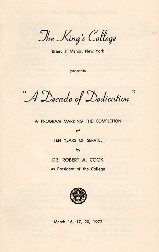Tenth Anniversary Program