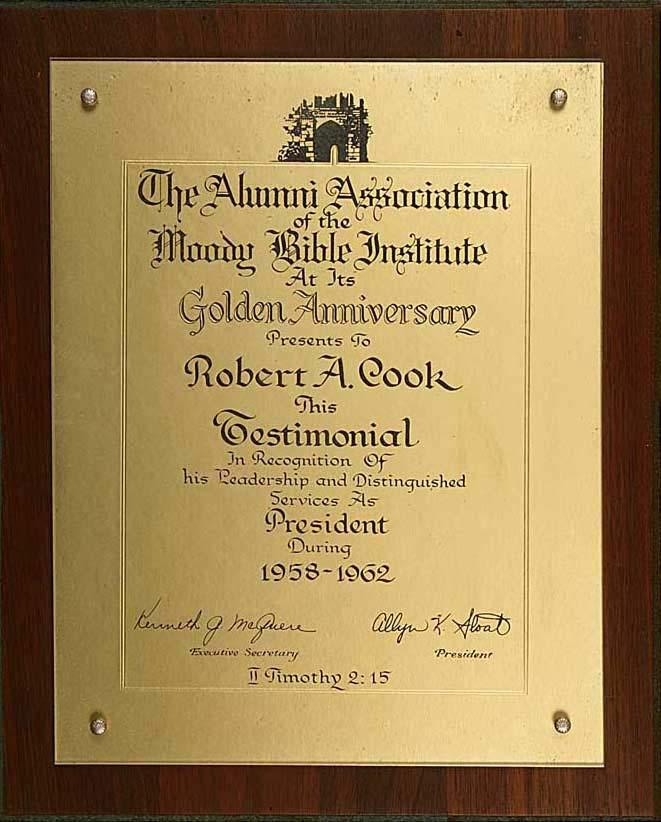 Moody Bible Institute Alumni President