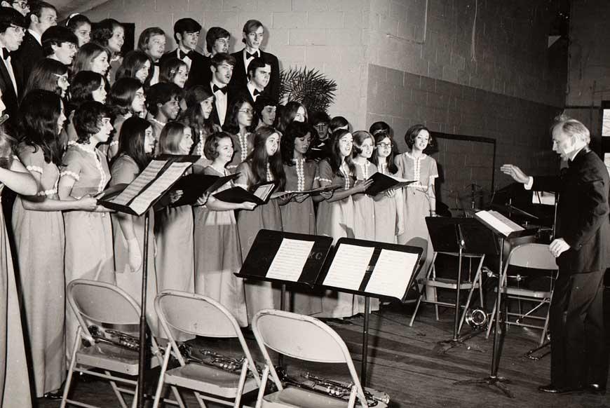 The King's College choir